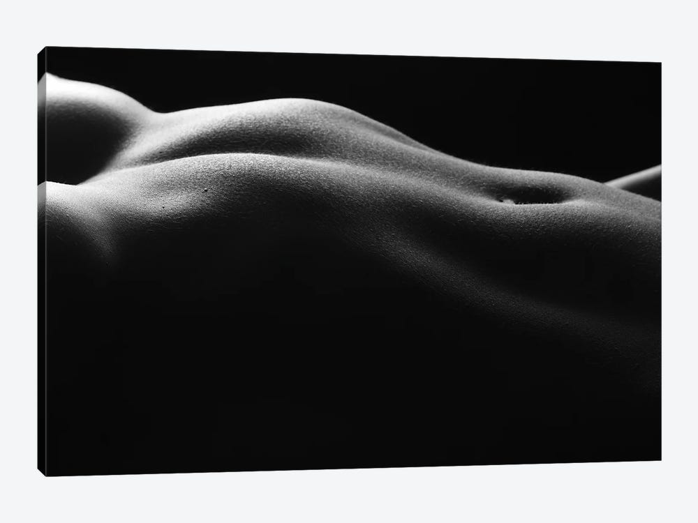 Naked Black And White Nude Belly Button And Female's Abdominal III by Alessandro Della Torre 1-piece Canvas Artwork