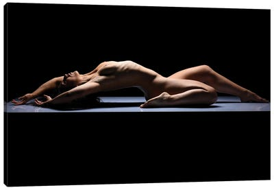 Fine Art Nude Woman Laying Down Naked I Canvas Art Print