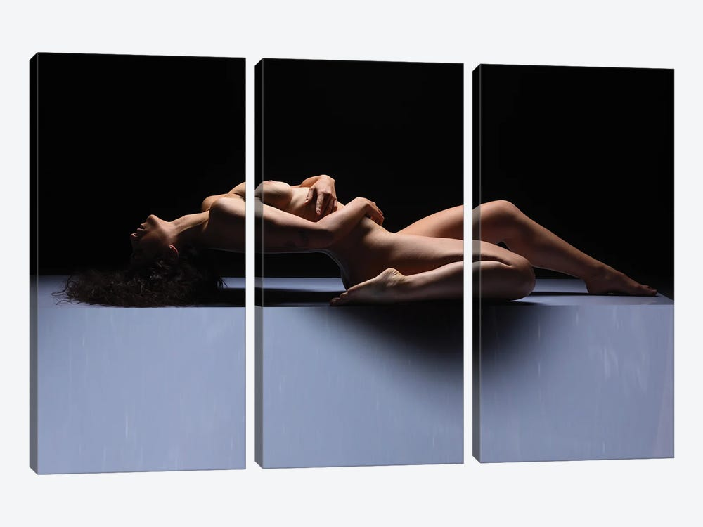 Fine Art Nude Woman Laying Down Naked II by Alessandro Della Torre 3-piece Art Print