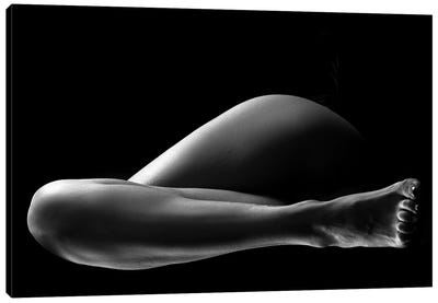 Black And White Nude Woman's Legs II Canvas Art Print