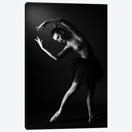 Classic Ballerina Dancer In Ballet Tutu Dress Classical Posing III Canvas Print #ADT351} by Alessandro Della Torre Canvas Wall Art