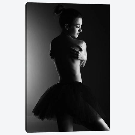 Classic Ballerina Dancer In Ballet Tutu Dress Classical Posing XI Canvas Print #ADT358} by Alessandro Della Torre Canvas Art