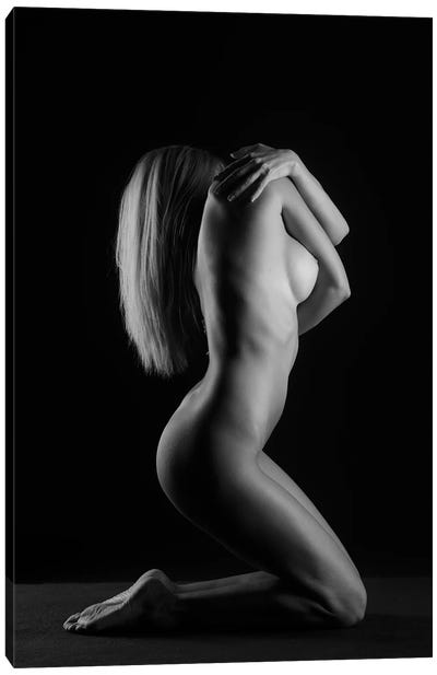Yound Nude Woman Sexy Naked In Bodyscape V Canvas Art Print