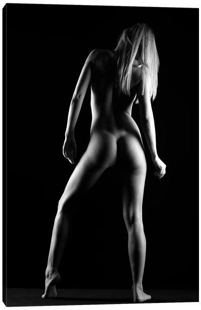 Standing Bodyscape Of Nude Naked Woman As Sensual Model II Canvas Art Print