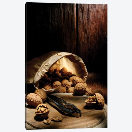 Wallnuts On Wooden Table Canvas Print #ADT497} by Alessandro Della Torre Canvas Art
