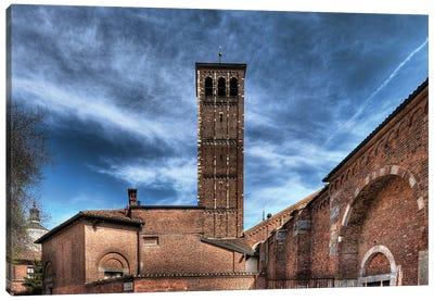 Basilica Di Sant'Ambrogio In Milan, Italy I Romanic Style Canvas Art Print