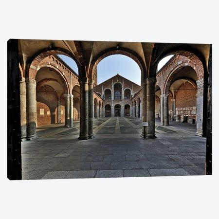 Basilica Di Sant'Ambrogio In Milan, Italy II Romanic Style Canvas Print #ADT523} by Alessandro Della Torre Canvas Art Print