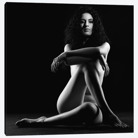 Black And White Nude Woman Canvas Print #ADT5} by Alessandro Della Torre Canvas Art