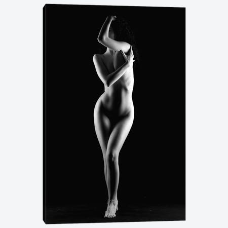 Naked Woman Standing Nude Girl Canvas Print #ADT87} by Alessandro Della Torre Canvas Art Print