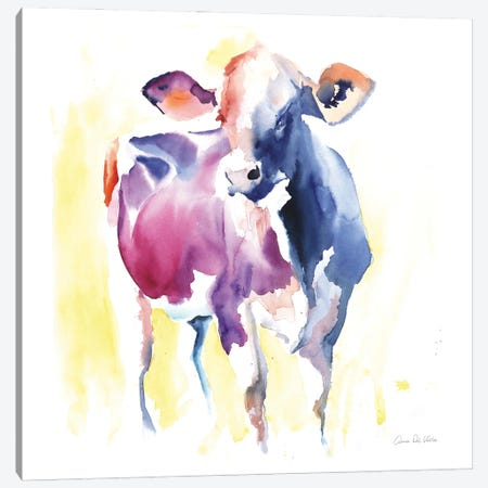 Holstein III Canvas Print #ADV14} by Aimee Del Valle Canvas Art