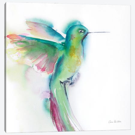 Hummingbirds II Canvas Print #ADV16} by Aimee Del Valle Canvas Artwork