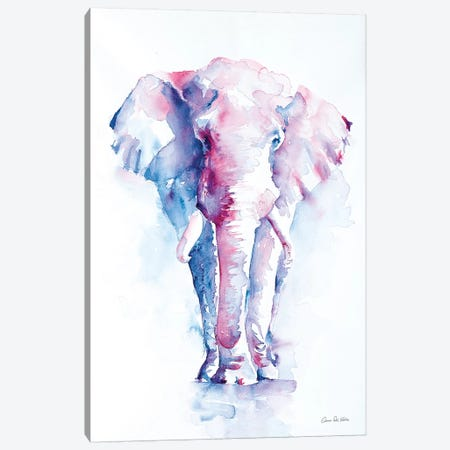 An Elephant Never Forgets Canvas Print #ADV1} by Aimee Del Valle Canvas Art Print