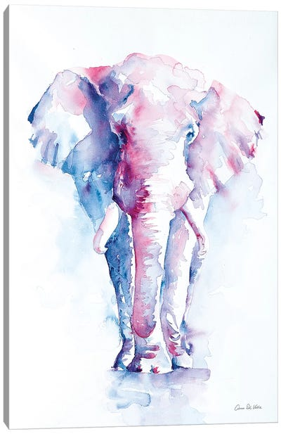 An Elephant Never Forgets Canvas Art Print