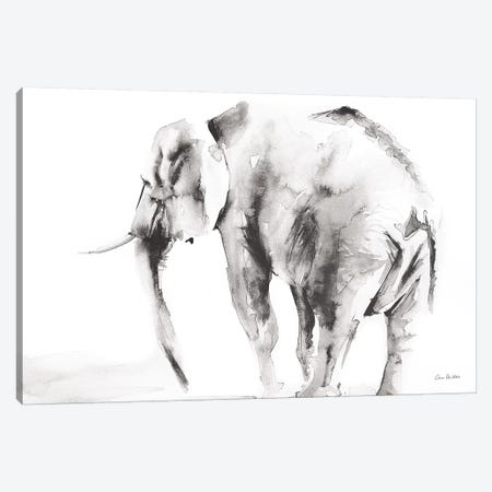 Lone Elephant Gray Canvas Print #ADV2} by Aimee Del Valle Art Print