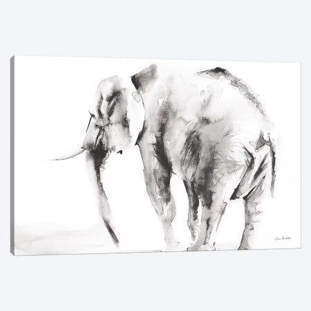 Lone Elephant Gray Canvas Print #ADV2} by Aimee Del Valle Art Print