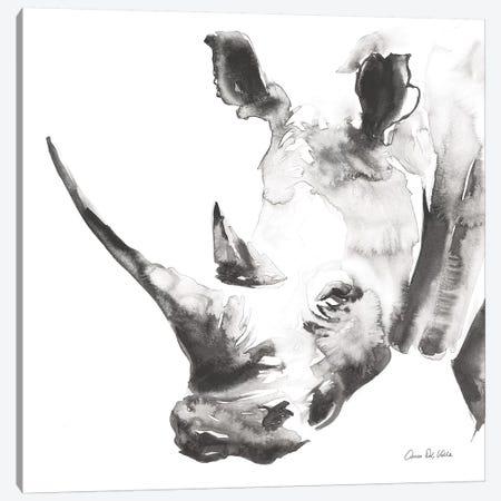 Rhino Gray Canvas Print #ADV3} by Aimee Del Valle Canvas Print
