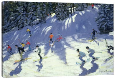 Fast Run Canvas Art Print