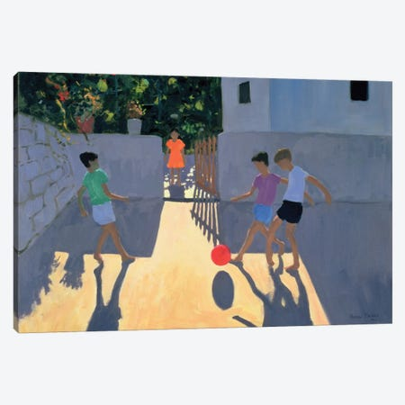 Footballers, Kos Canvas Print #ADW14} by Andrew Macara Canvas Art Print
