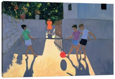 Footballers, Kos Canvas Art Print