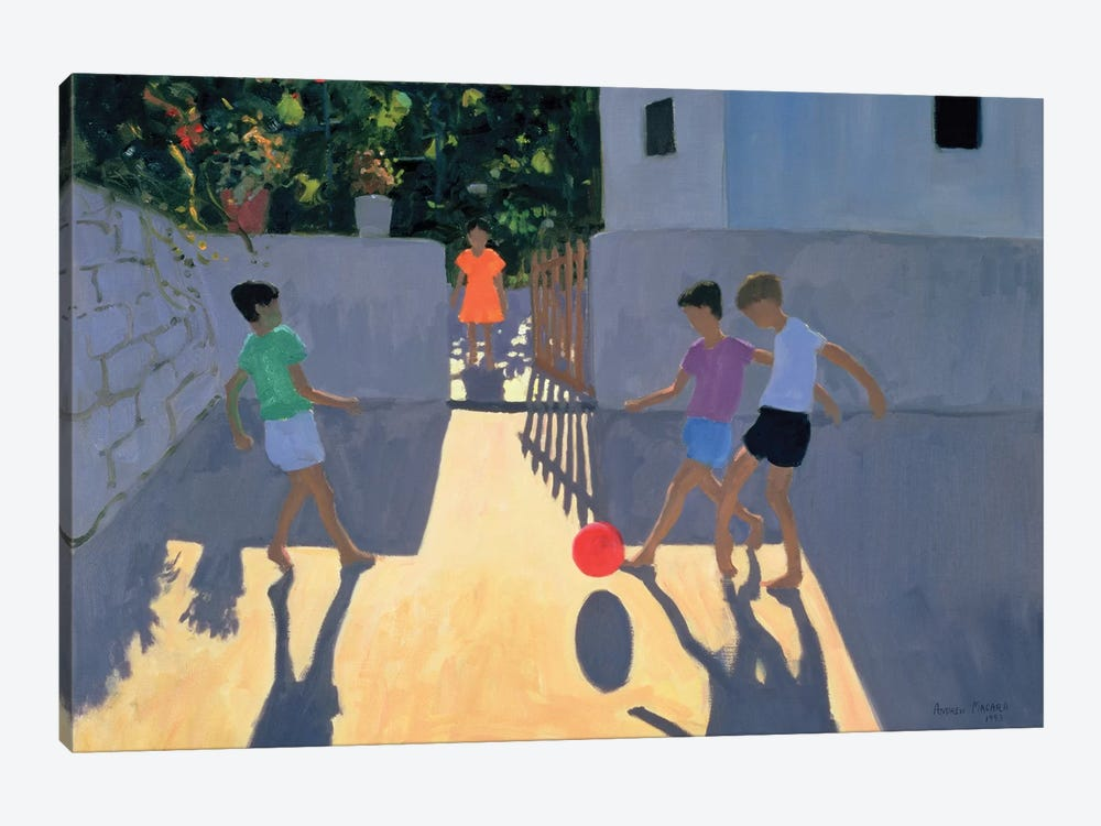 Footballers, Kos by Andrew Macara 1-piece Art Print