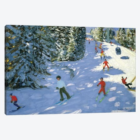 Gondola, Austrian Alps Canvas Print #ADW16} by Andrew Macara Canvas Art Print