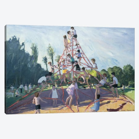 Mundy Playground, Markeaton Park, Derby Canvas Print #ADW21} by Andrew Macara Art Print