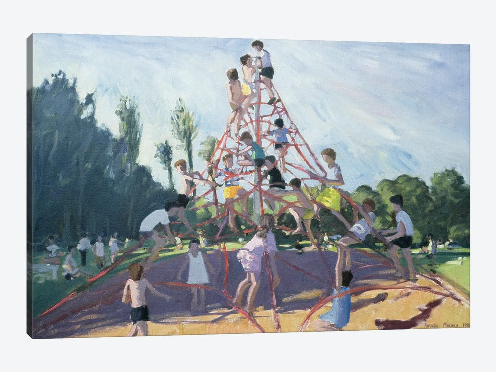 Mundy Playground, Markeaton Park, Derby by Andrew Macara 1-piece Canvas Print