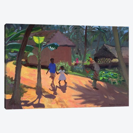 Road To Kovalum Beach, Kerala Canvas Print #ADW23} by Andrew Macara Canvas Print