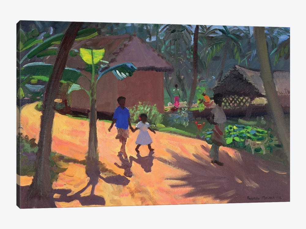Road To Kovalum Beach, Kerala by Andrew Macara 1-piece Canvas Print