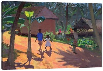 Road To Kovalum Beach, Kerala Canvas Art Print