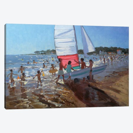 Sailboat, Palais Sur Mer Canvas Print #ADW24} by Andrew Macara Canvas Wall Art