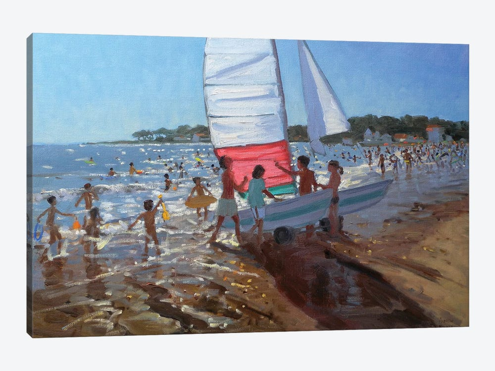 Sailboat, Palais Sur Mer by Andrew Macara 1-piece Canvas Wall Art