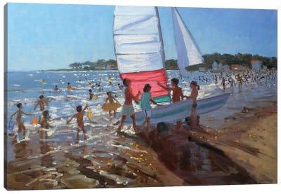 Sailboat, Palais Sur Mer Canvas Art Print