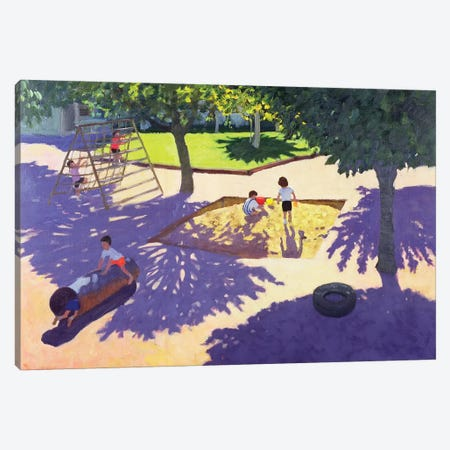 Sandpit, France Canvas Print #ADW25} by Andrew Macara Canvas Art