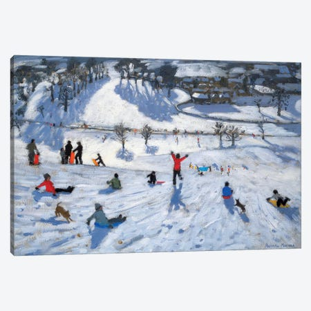 Winter Fun, Chatsworth Canvas Print #ADW28} by Andrew Macara Canvas Art Print