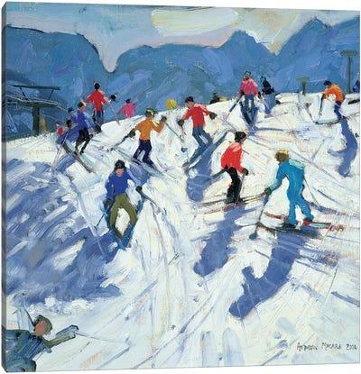 Busy Ski Slope, Lofer Canvas Art Print
