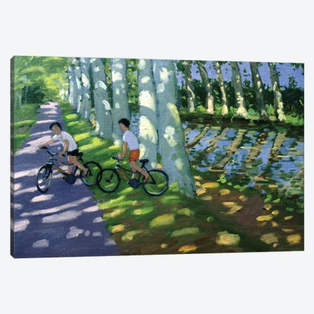 Canal du Midi, France Canvas Print #ADW4} by Andrew Macara Art Print
