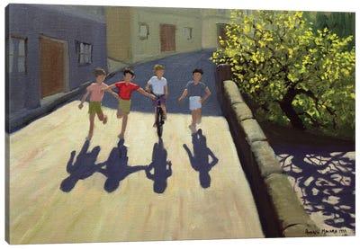 Children Running, Lesbos Canvas Art Print