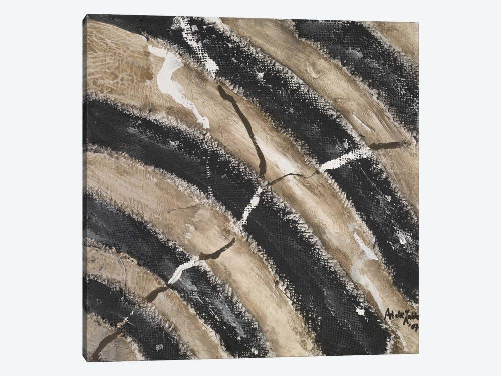 Black Lines by Art die Zakko 1-piece Canvas Print