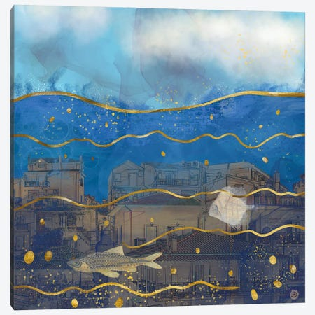 Cities Under Water - Surreal Climate Change Canvas Print #AEE12} by Andreea Dumez Canvas Print