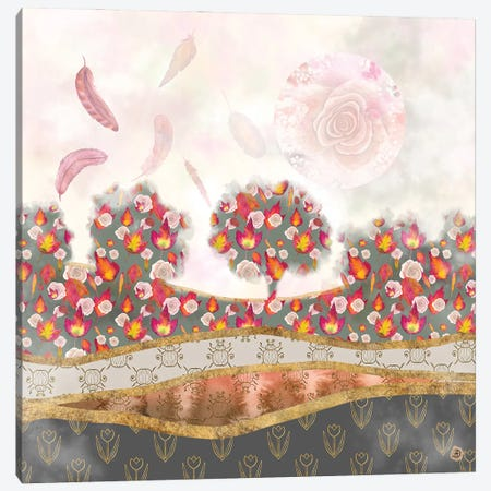 Falling Feathers And Roses - Autumn Palette Canvas Print #AEE16} by Andreea Dumez Canvas Wall Art