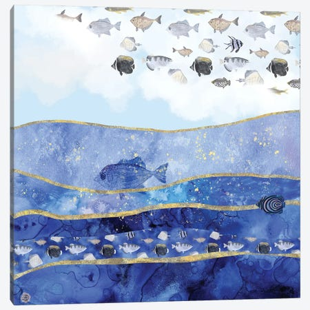 Fish In The Sky - A Surreal Dream Canvas Print #AEE18} by Andreea Dumez Canvas Print
