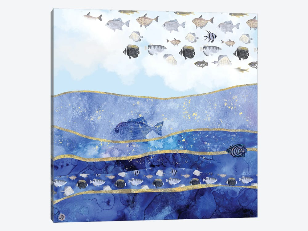 Fish In The Sky - A Surreal Dream by Andreea Dumez 1-piece Canvas Print
