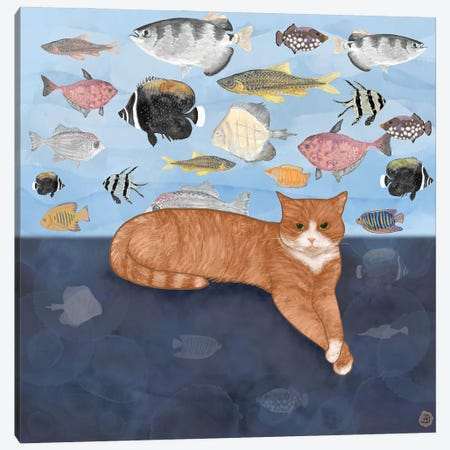 Leisurely Waiting For The Fish Canvas Print #AEE25} by Andreea Dumez Art Print