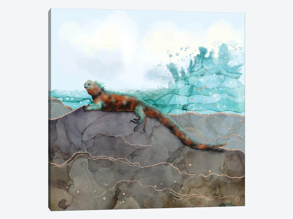 Marine Iguana On The Seashore by Andreea Dumez 1-piece Art Print