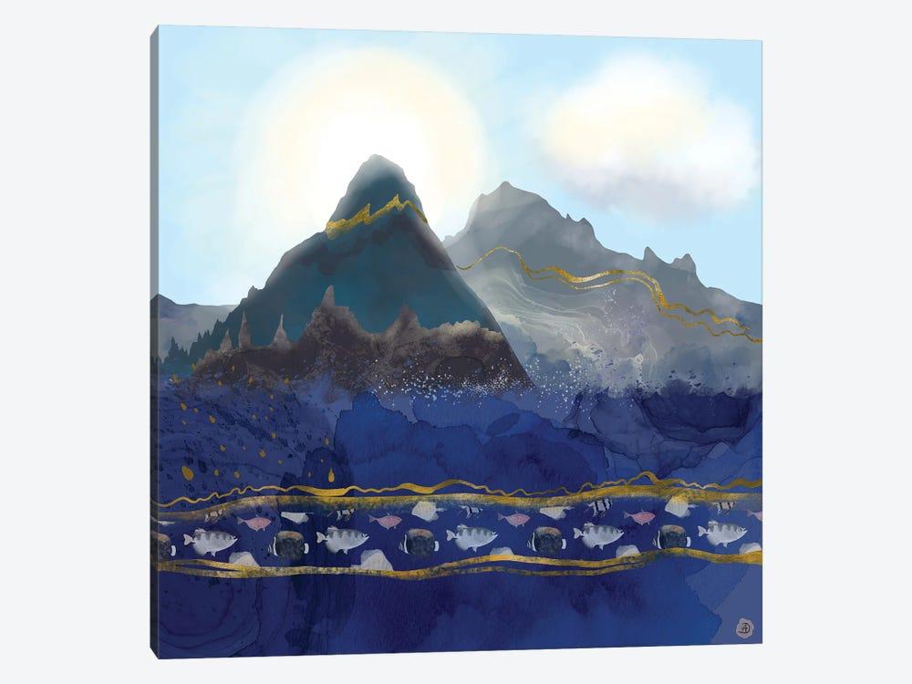 Mountains Meet The Ocean by Andreea Dumez 1-piece Canvas Artwork