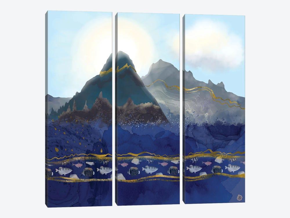 Mountains Meet The Ocean by Andreea Dumez 3-piece Canvas Artwork