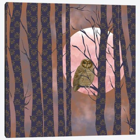 Nightly Owlish Wisdom Canvas Print #AEE29} by Andreea Dumez Canvas Wall Art