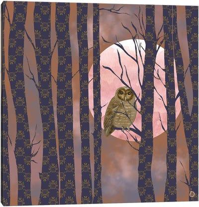 Nightly Owlish Wisdom Canvas Art Print
