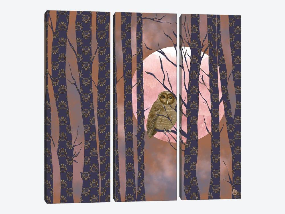 Nightly Owlish Wisdom by Andreea Dumez 3-piece Art Print